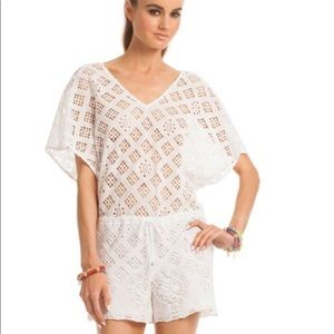 NWT Trina Turk white lace play suit, JULIA Romper